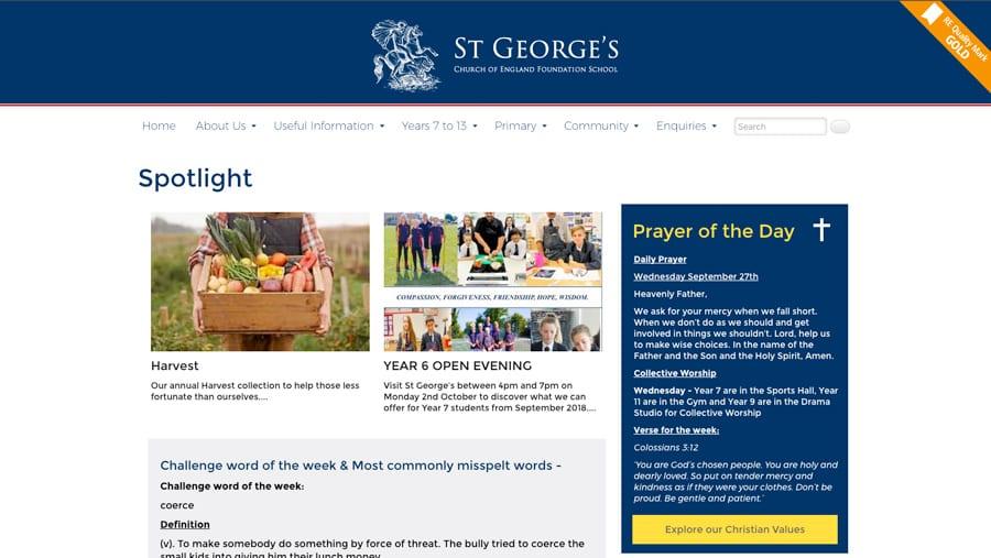 St George's CoE Foundation school website