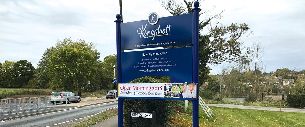 school open day school signage