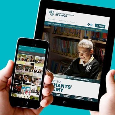 merchants academy trust website design
