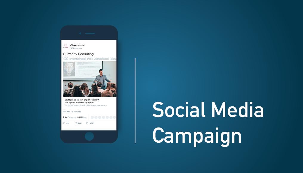 Social Media advert for teacher recruitment