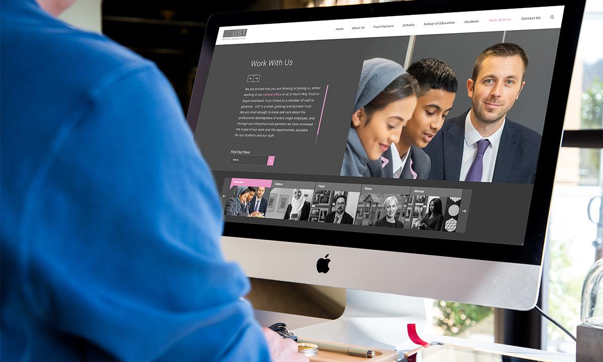 work with us teacher vacancy recruitment page on schools trust website