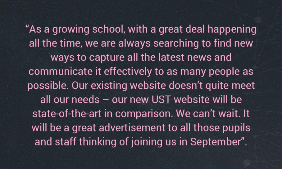 university schools trust website quote