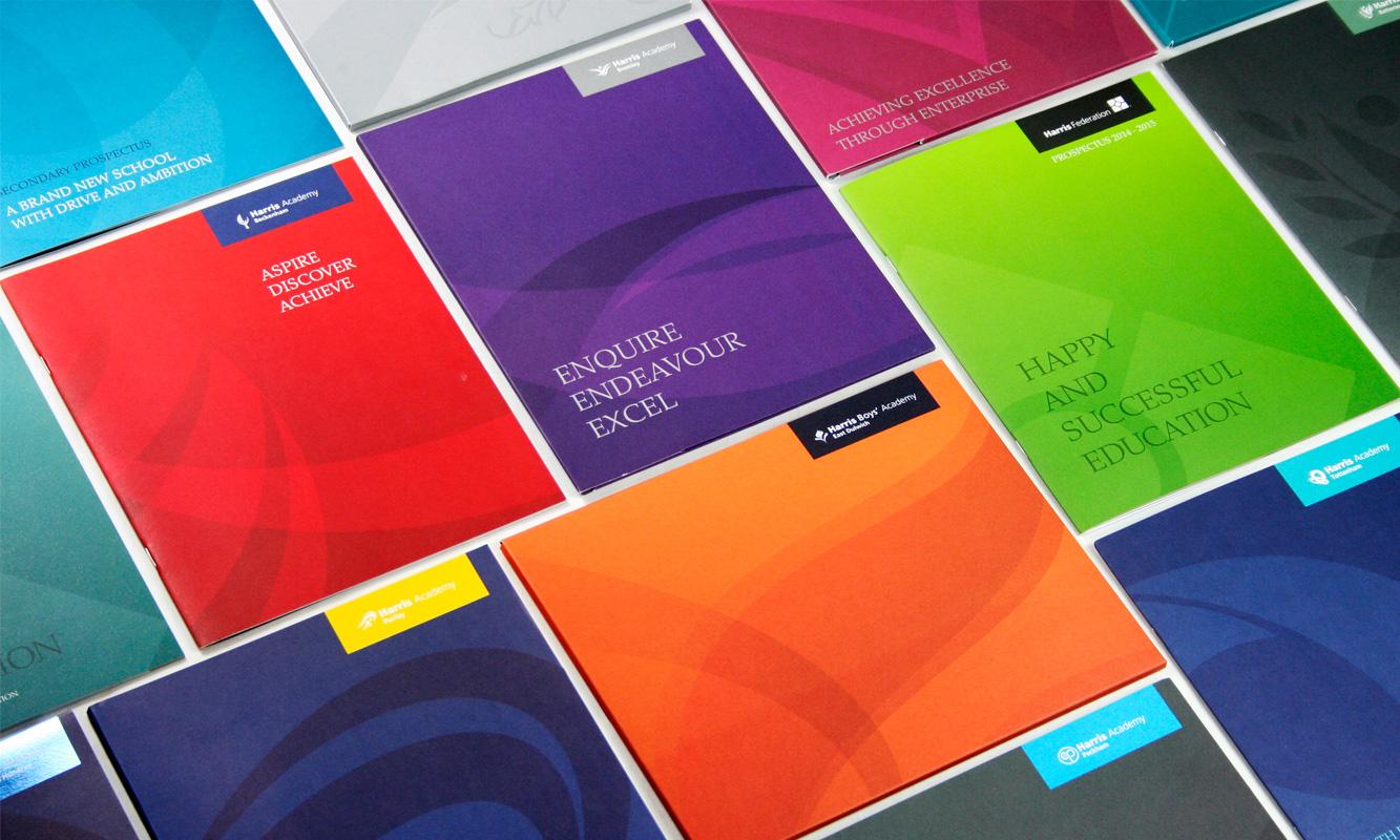 Cleverbox Harris Federation Academy Prospectus Design school design agency