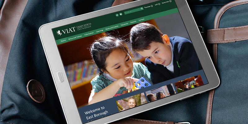 school website projects east borough primary VIAT
