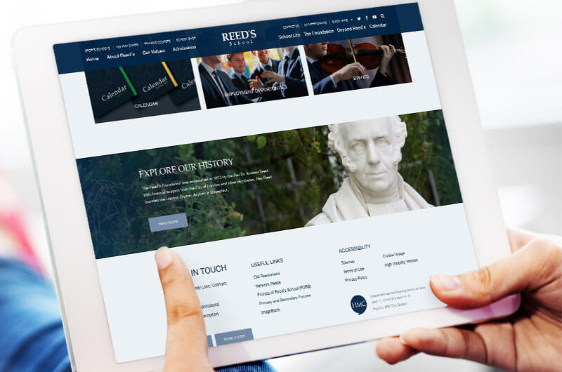 Reed's school website case study history